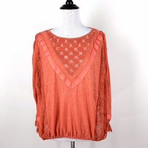 Free People New Romantics Peasant Top Oversized